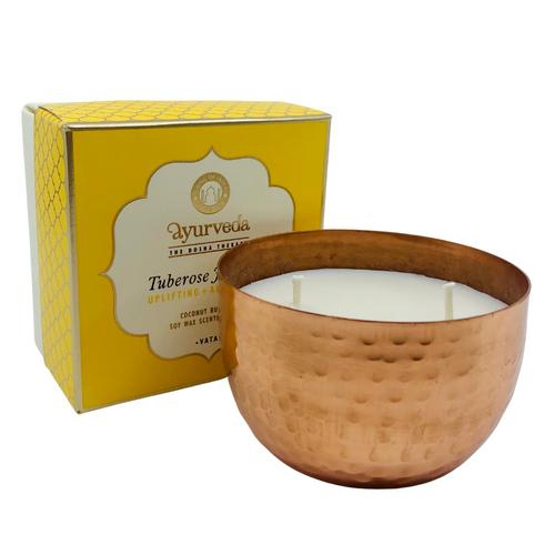 Tuberose Jasmine Candle - Uplifting + Anti Stress