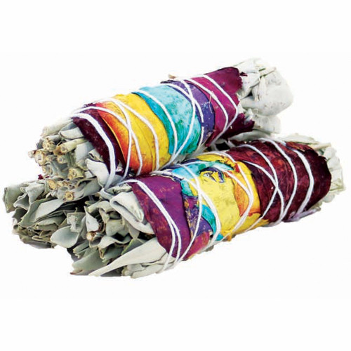 Rose Petals Sage Smudge Stick 10cm