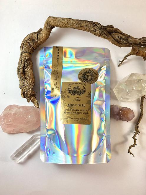 Fae Altar Salt - Pink Salts, Lemon Myrtle & Fairy Dust