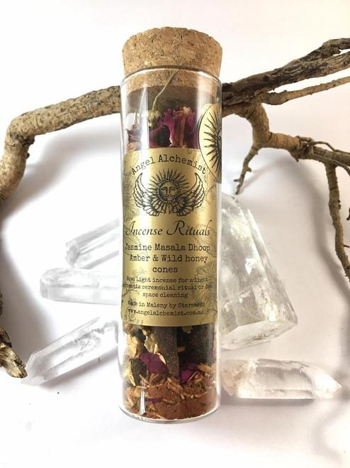 Incense Rituals - Jasmine Masala Dhoop Amber & Wild Honey