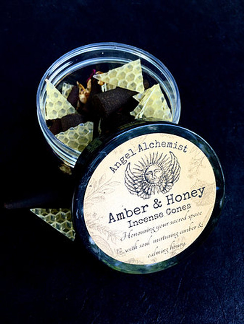 Amber and Honey Incense Cones