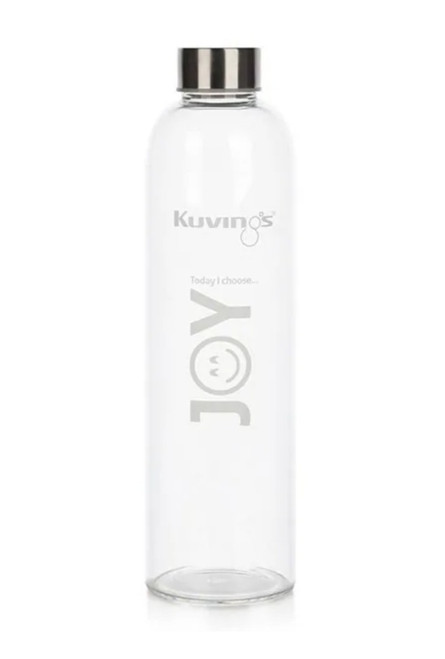 Joy – 1 Litre Glass Bottle with Stainless Steel Lid