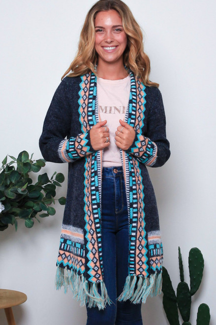 'Maeve' Long Cardigan