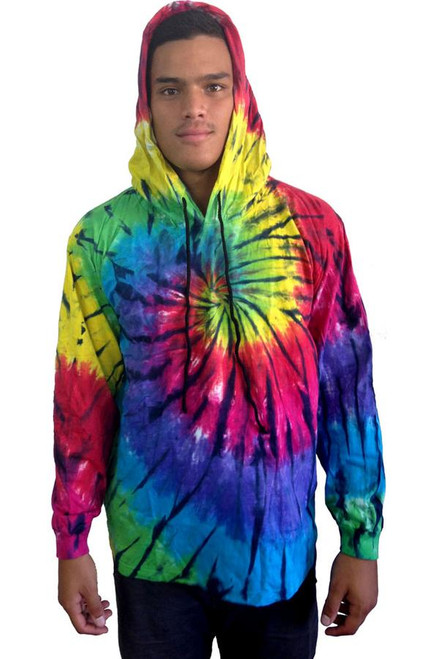Hooded Tie Dye Jacket 'Dark Knight'