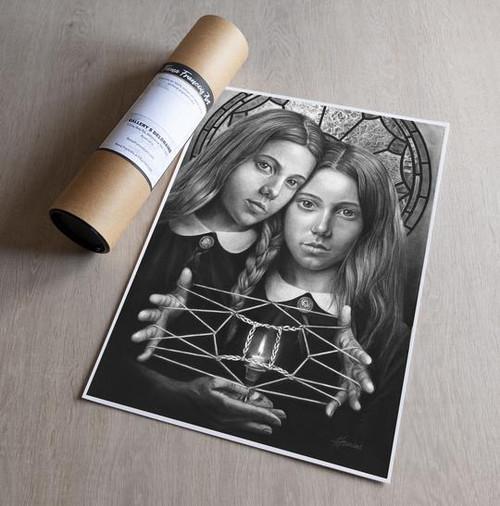 'Gemini' Art Print - Fiona Francois Art