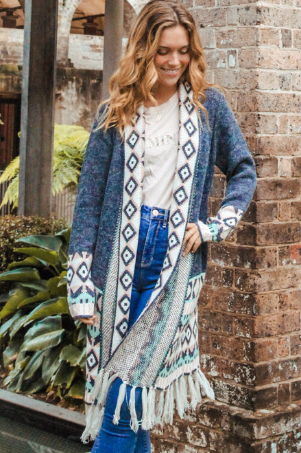 'Eva' Long Cardigan