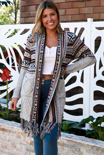 'Piper' Long Cardigan