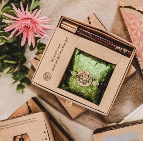 Patchouli Vanilla Scented Bracelet and Fragrance Spray