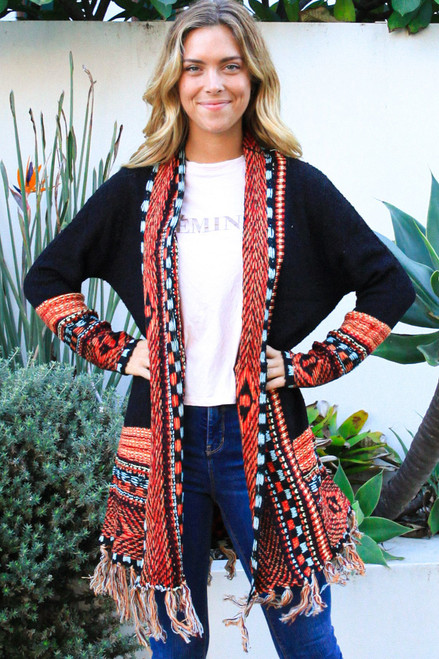 'Diana' Long Cardigan