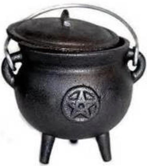 Cauldron - Medium Pentagram Cast Iron