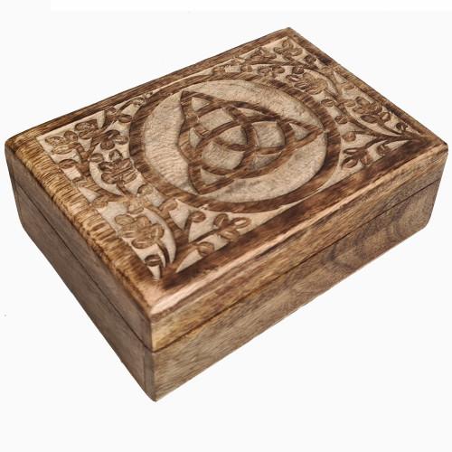 Medium Triquetra Wooden Box