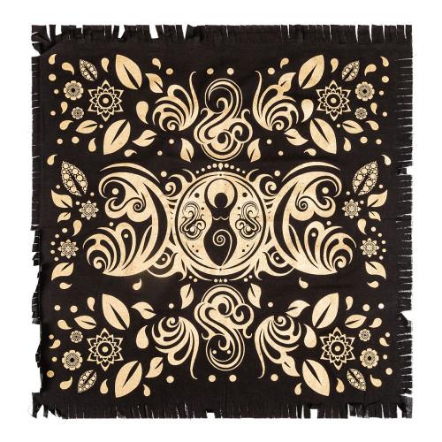 Goddess Moon Gold Print Altar Cloth