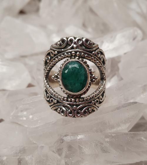 'Esmerelda' Sillimanite Sterling Silver Ring #8