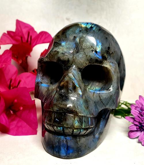 Labradorite Skull Carving