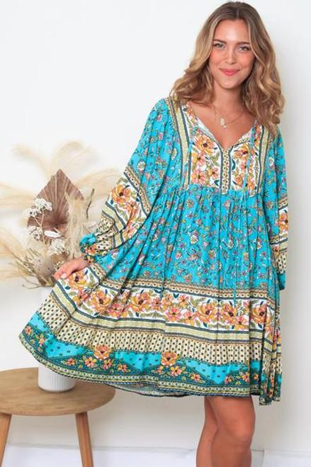 Blakely 3/4 Sleeves Mini Dress