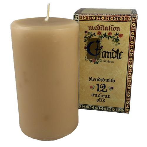Meditation Candle – Wide (80hrs)