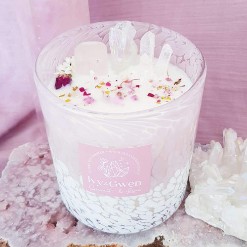 Enchanted Crystal Candle - Lotus Flower