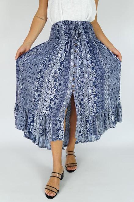 Indigo 'Watermark' Tiffany Skirt