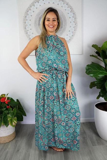 Long Chloe 'Tijuana' Mint Dress