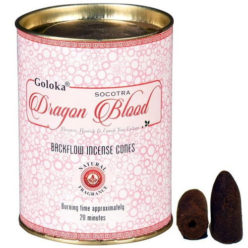 Goloka Dragon Blood Backflow Incense Cones