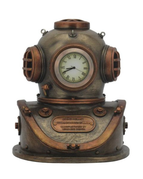 Steampunk Diving Helmet Clock