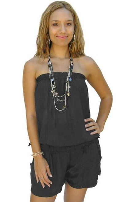 Sundrenched Short Jumpsuit Charcoal Freesize 8-14