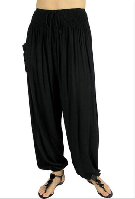 Sundrenched Harem Pants Black Size