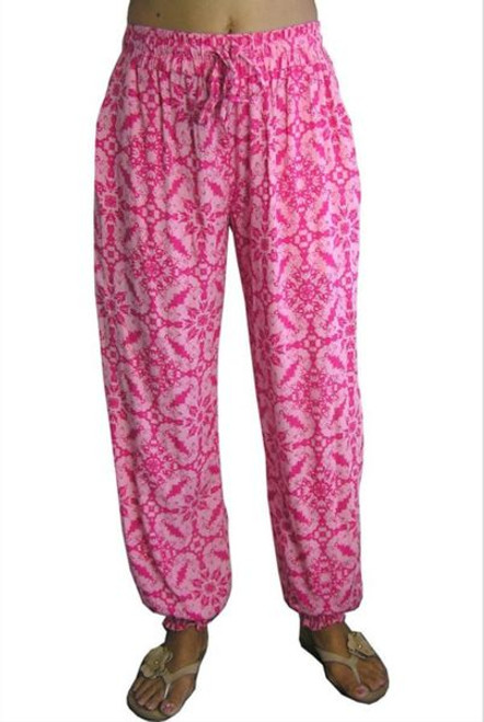Sundrenched Gypsy Pants Pink Echo Beach Freesize 10-16