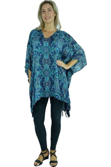 Sundrenched Dot Blue Cover Up