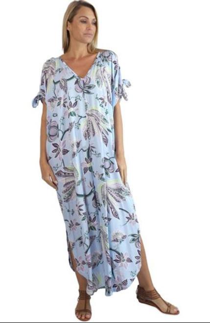 Sundrenched Mykonos Lyrebird Blue Dress