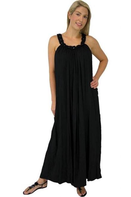 Sundrenched Long Magnum Black Dress