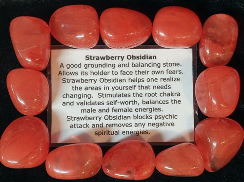Strawberry Obsidian Tumble Stone