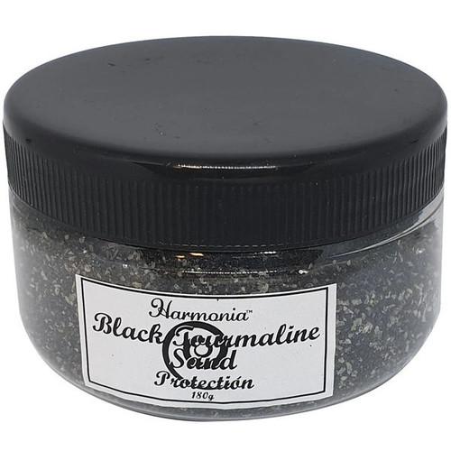 Black Tourmaline Crystal Sand in Jar