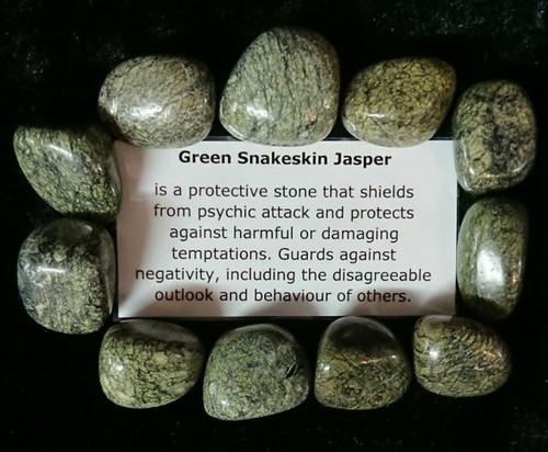 Green Snakeskin Jasper Tumble Stone