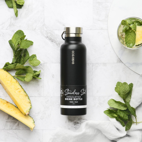 Ever Eco Black Insulated Stainless Steel Bottle 750ml