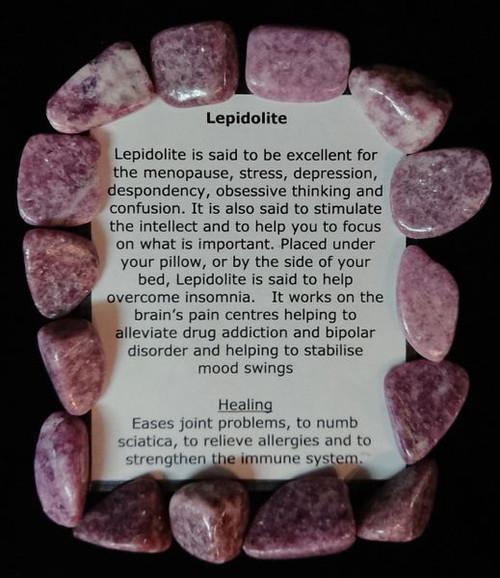 Lepidolite Tumble Stone