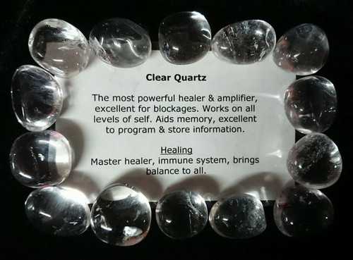 Clear Quartz Tumble Stone
