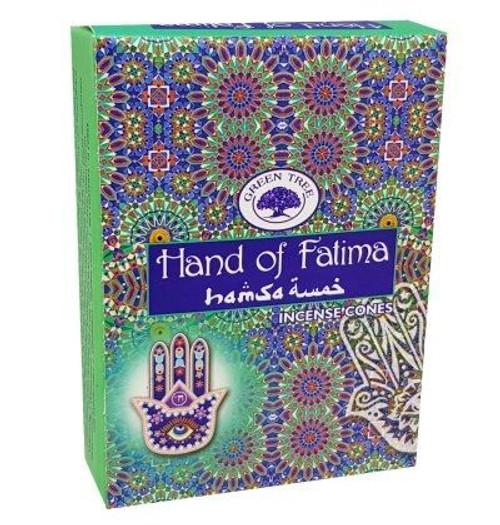Green Tree Hand of Fatima Incense Cones