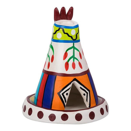 Clay Crafted Teepee Cone Burner