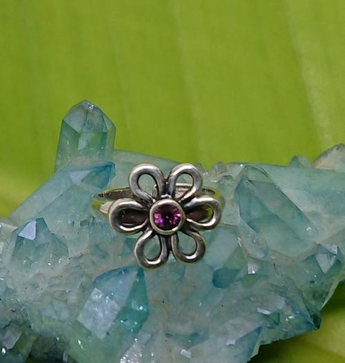Flower Gem 925 Sterling Silver Toe Ring