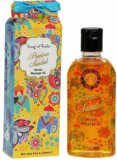 Song of India Precious Sandal Herbal Massage Oil