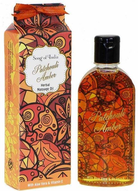 Song of India Patchouli Amber Herbal Massage Oil