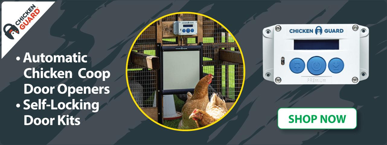 Chicken Guard Coop Doors and Openers
