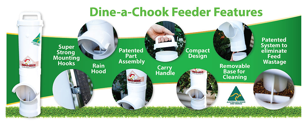 Dine A Chook Chicken Feeder features