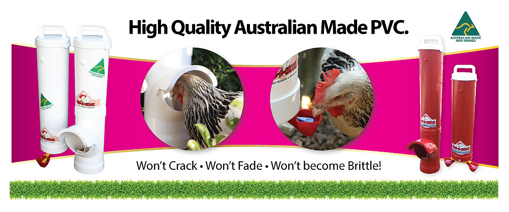 Dine a chook pvc chicken feeder