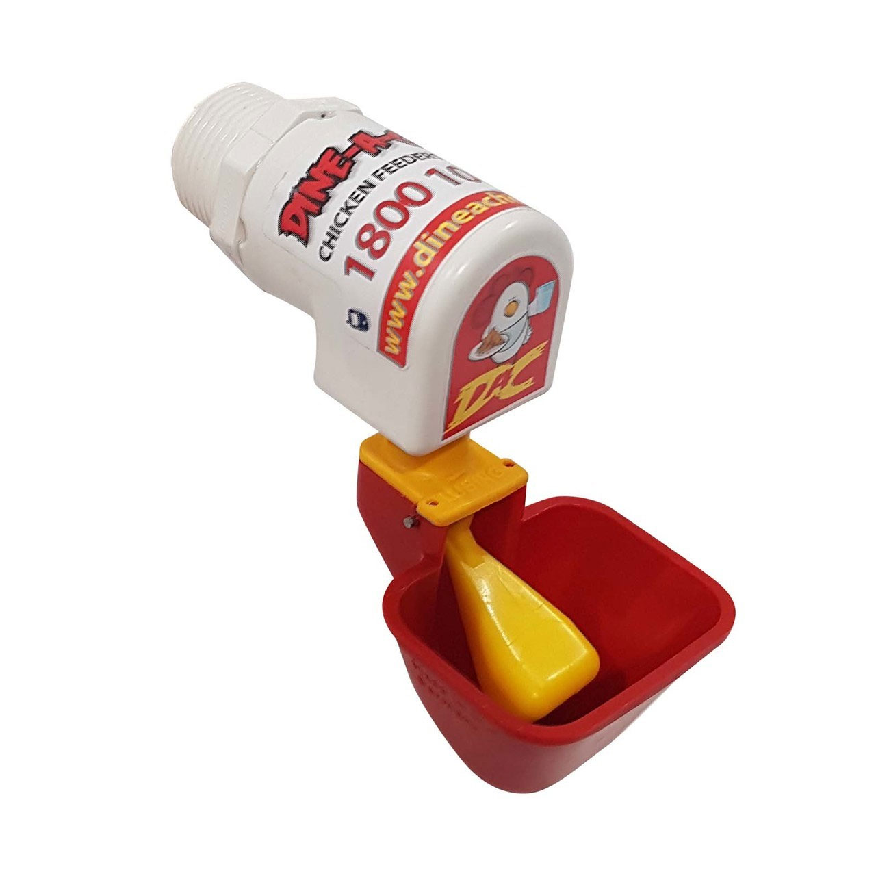 Chicken waterer lubing cup for drum