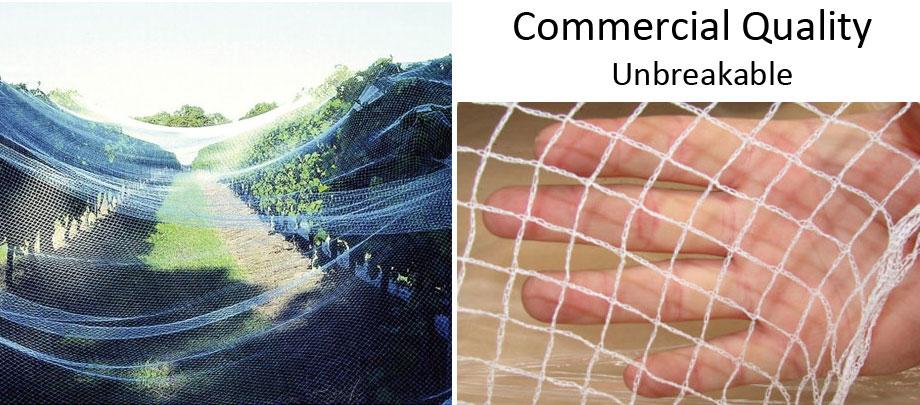 white commercial bird netting per metre