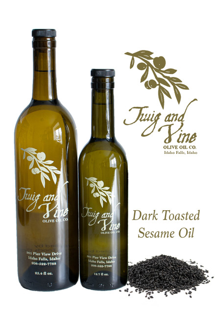Dark Toasted Sesame Oil available at Love At First Bite Mercantile in Idaho Falls, Idaho | Twig & Vine Olive Oil Co.