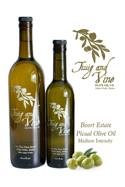 Boort Estate Picual Medium Intensity Olive Oil available at Love At First Bite Mercantile in Idaho Falls, Idaho | Twig & Vine Olive Oil Co.
