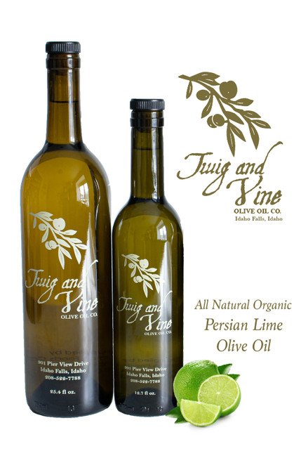 All Natural Lime Persian Organic Olive Oil available at Love At First Bite Mercantile in Idaho Falls, Idaho | Twig & Vine Olive Oil Co.